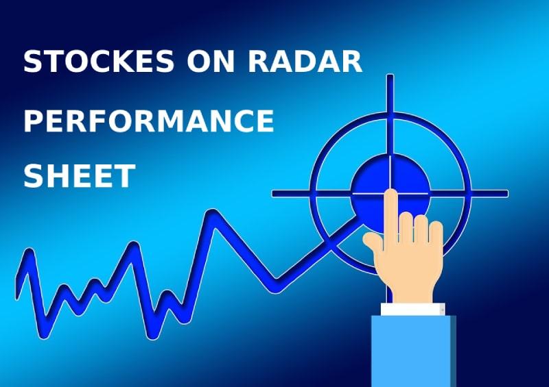 Stocks on radar track sheet